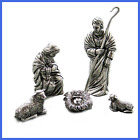 Holy Family Pewter Nativity Set Handcrafted Gift Boxed Made In USA FREE SHIPPING