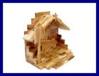 Handcarved Bethlehem OLIVE Wood Miniature Nativity Scene Set W Stable 12 PC By