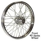 40 Spoke 19 Chrome Front Wheel 19 x 25 Harley FXD 00 03 Sportster 00 07