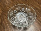 Star of David Serving Bowl Large Anchor Hocking Clear Glass EAPC