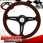 PERFORMANCE HANDLING DRAG WOOD GRAIN STEERING WHEEL JDM HORN TYPE R FOR NISSAN