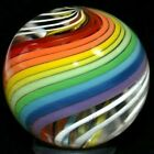 JODY FINE HANDMADE GLASS MARBLE 1051RAINBOW DOUBLE FINE HUGE SHOOTER FAST SHIP