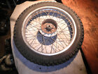 1976 kawasaki KE 175B rear tire wheel spokes 3.50 x 18