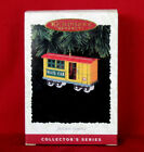 Hallmark 1996 YULETIDE CENTRAL #3 Mail Car Train Pressed Tin Ornament