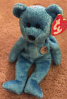 TY BEANIE BABIES The People's Beanie Classy the Bear #1 Blue Retired Baby NWT