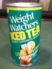 Weight Watchers Iced Tea Straight steel pull top No bar code or ml listed