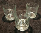Three (3) ANCHOR HOCKING Old Fashioned Tartan Clear Highball tumblers Rocks