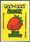 Vintage Scratch  Sniff Stickers Pac Man Strawberry 2 Excellent