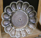 DEVILED EGG PLATTER PLATE INDIANA Glass Hobnail 11