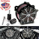 Contrast Cut Venturi Air Cleaner Intake Filter System For Harley Touring 2008 16