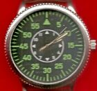 50 MM  CASE SIZE  1940'S REPLICA  WRISTWATCH OF THE GERMAN AIRFORCE LEATHER STRA
