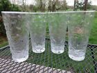 4 Vintage Anchor Hocking Lido Milano Clear 6 3/8