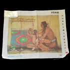LARGE NEEDLEPOINT CANVAS NATIVE AMERICAN THE LESSON BY ANN TUSH BM