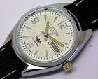 Mens Citizen Automatic Steel Vintage Day Date White Dial Watch Run Order sq1357