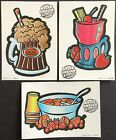 Vintage Classic Set of 3 Mello Smello Scratch  Sniff Stickers Drinks