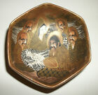 Vintage Japanese Satsuma Immortals Signed Multi sided Bowl Exc Cond