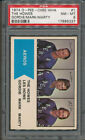 1974 75 O-Pee-Chee OPC WHA #1 The Howes Gordie Mark Marty PSA 8 *6337