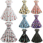 Women 50s Vintage Style Pinup Swing Housewife Party Rockabilly Casual Prom Dress