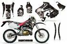 Dirt Bike Graphic Kit Decal Sticker Wrap For Honda CRM250AR 1996-1999 BONES BLK