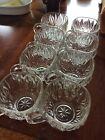 REPLACEMENT VINTAGE Etched STAR PATTERN Fruit Punch Cups - set of 8 - FAST SHIP