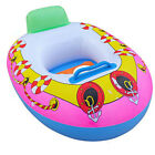 Baby Swim Ring Inflatable Toddler Float Boat Swimming Ring Pool Kids Boat US