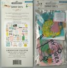 Crate Paper MAGGIE HOLMES LOT SUNNY DAYS series 2 pieces QUICK SHIP