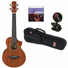 Ibanez UEW5E 4 String Concert Ukulele Open Pore Natural W StringsTuner