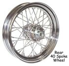 40 Spoke 16 Chrome Rear Wheel 16 x 3 fr 79 99 Harley Sportster Dyna FXR Softail