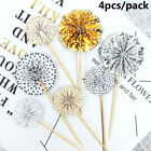 Crafts Party Supplies Cupcake Topper Birthday Decor Cake Flag Mini Paper Fan