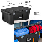 LARGE PLASTIC STORAGE BOX Container Wheeled Tote Bin 16 Gal Portable Organizer