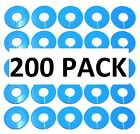 Blue Round Plastic Blank Rack Size Dividers - Multi-pack