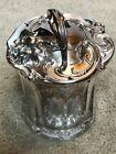 art nouveau Glass  Silverplate Humidor All Intact Gorgeous