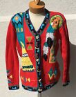 Storybook Knits Native American Chief Cardigan Indian Embellished Beaded Sweater