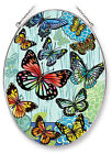 Butterflies Hugs Kisses Sun Catcher AMIA Large Oval Hand Painted New Butterfly
