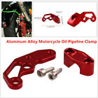 Motorcycle Scooter Modified Aluminum Alloy Oil Pipeline Clamp Protect Brake Line