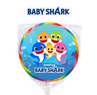 24 Baby Shark Round Stickers Label for Bag Lollipop Birthday Party Favors