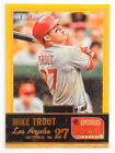 2013 Panini America's Pastime Mike Trout #34 Gold Parallel #18 25