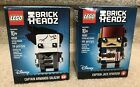LEGO DISNEY BRICKHEADZ 41593 CAPTAIN JACK SPARROW 41594 CAPTAIN ARMANDO SALAZAR