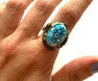 Genuine Murano Millefiori Blue Glass Ring By Alan K Size 8