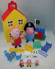 Peppa Pig Deluxe House Playset w/ Figures + George Pirate Fort Ty Plush Beanies