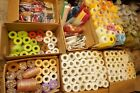 HUGE lot of Deco Poly Mesh Rolls 10 yd Raffia Ribbon String Crepe Paper + MORE