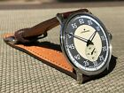 Junghans Meister Driver Hand Winding Sand Dial Sub Second Watch 027/3608.00