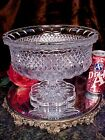 HEAVY Crystal Glass Scallop FOOTED CENTERPIECE Bowl ALL COLORS RAINBOW Bohemia