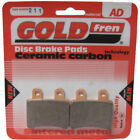 Rear Disc Brake Pads for Derbi Senda DRD Pro 50 R 2005 50cc By GOLDfren
