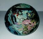 BLOWN ART GLASS PAPERWEIGHT SIGNED HAT HERBERT A THOMAS MIND BLOWING DICHROIC