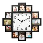 Photo Frame Clock Picture Collage 12 Picture Display Wall Clock Photowall Decor