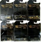 2018 Hot Wheels 50th ANNIVERSARY BLACK and GOLD Complete SET of 6diecast cars