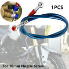 Motorcycle Electric Bikes Braided Brake Oil Hose Line Pipe Fittings 10mm Nozzle