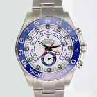 Mens Rolex Watch Yacht-Master II 116680 Stainless Steel 44mm Blue /White Face