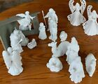 AVON White Porcelain NATIVITY SET 15 in Original Boxes Plus Matching ANGEL TRIO
